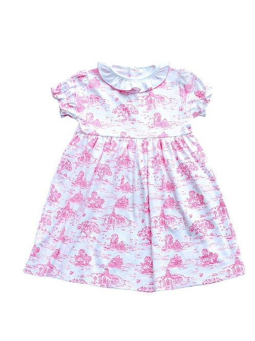 School Days Short Sleeve Toile Dress