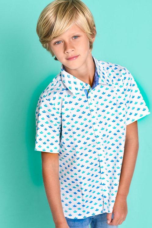 Origami Sailboat Shirt