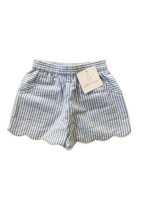 Girls scalloped Resort shorts