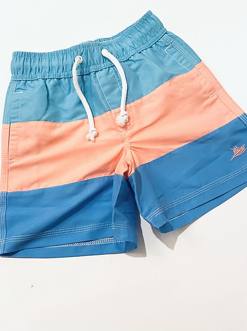 Pink Color Block Southbound Swim Trunks