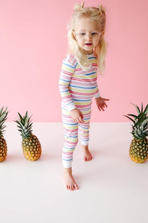 Rainbow 2 piece Pajama Set
