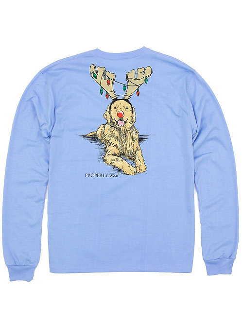 Golden Holiday Properly Tied Long Sleeve T-Shirt