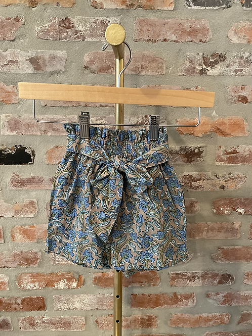 Printed Tie Front Girls Shorts