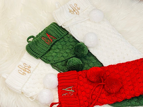 Embroidered Holiday Stockings