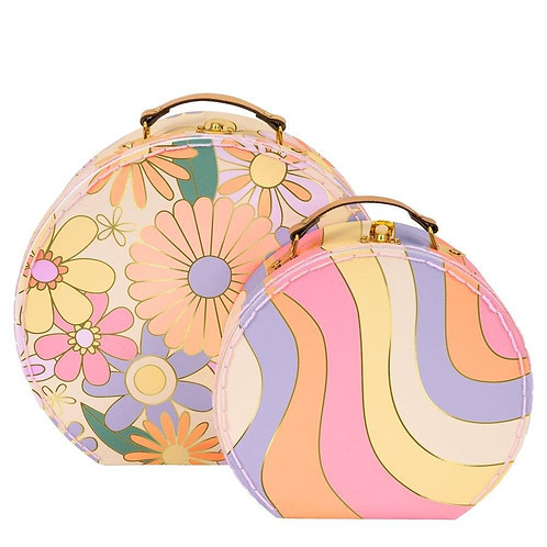 Psychedelic 60s Suitcases (set of 2)