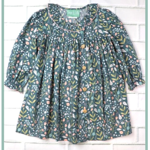 Floral Side Button Dress