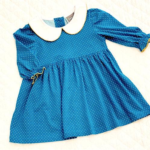 Blue Polk a Dot Dress