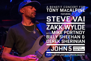 Benefit concert for Tony MacAlpine feat. Zakk Wylde, Steve Vai, John 5 and more