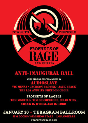 Audioslave's first performance in over a decade at Anti Inaugural Ball