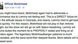 Motörhead cancels live shows