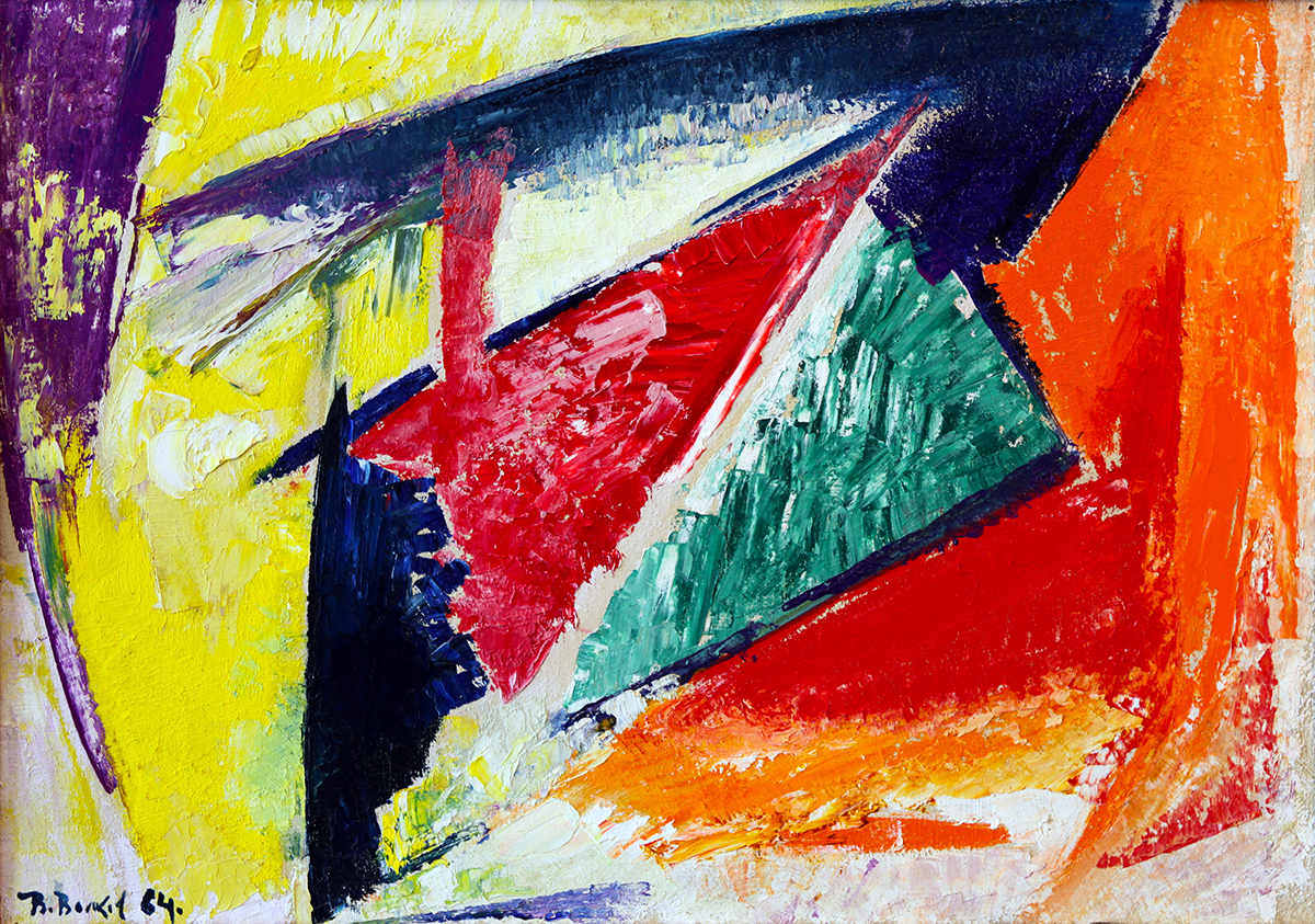 """Dinamic triangles ""  1964,"