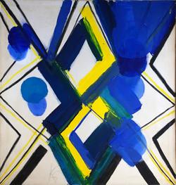 """Two Diamonds, Blue Balls"" 1970."