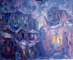 """""""Evening in Moscow"""" 1992."""