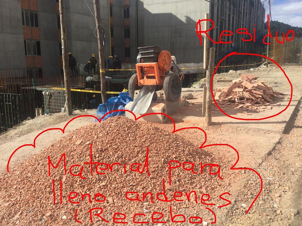 Aprovechamiento residuos - Obra Bolonia (Bogotá D.C.)