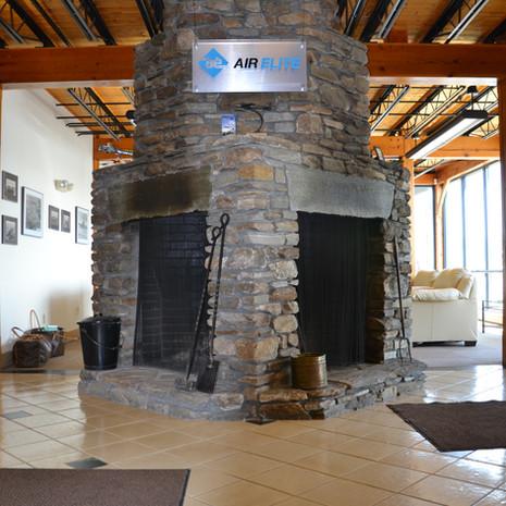 Dual Stone Fireplace