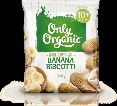 Only Organic Banana Biscotti(6pice)