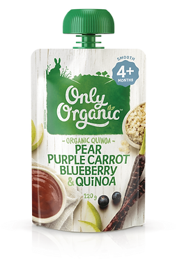 Only Organic Pear Purple Carrot Blueberry&Quinoa(6pice)