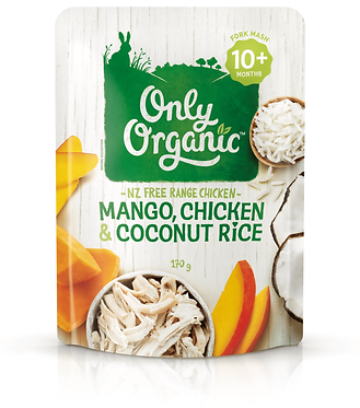 Only Organic Mango,Chicken&Coconut Rice(6pice)