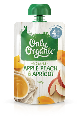 Only Organic Apple, Peach&Apricot (6pice)