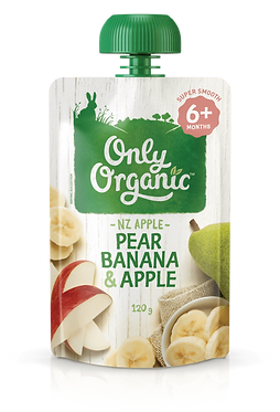 Only Organic Pear Banana&Apple(6pice)