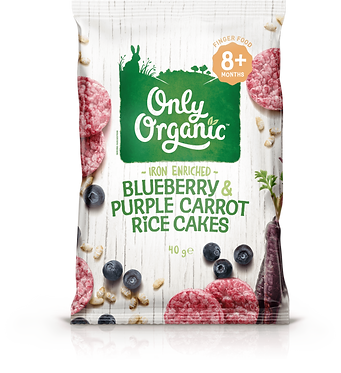 Only Organic Blueberry Purple Carrot Rice Cakes(6pice)