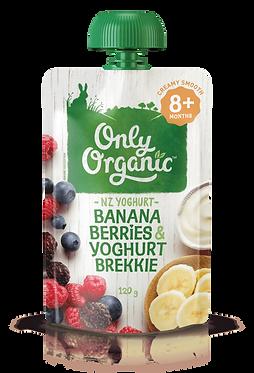 Only Organic Banana Berries Yoghurt Brekkie(6pice)