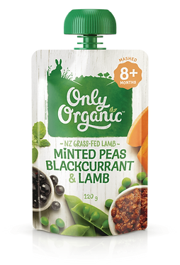 Only Organic Minted Peas Blackcurrant&Lamb(6pice)
