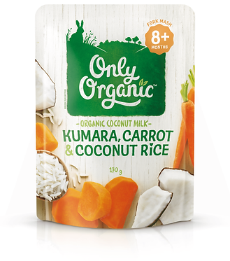 Only Organic Kumara,Carrot&Coconut Rice(6pack)