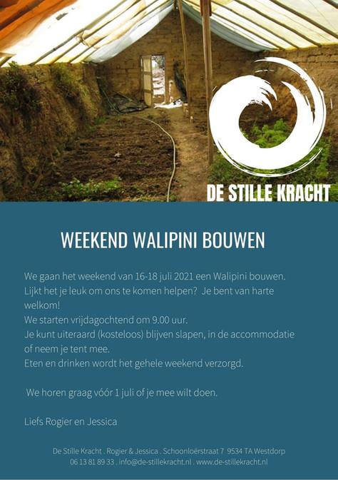 Weekend Walipini bouwen