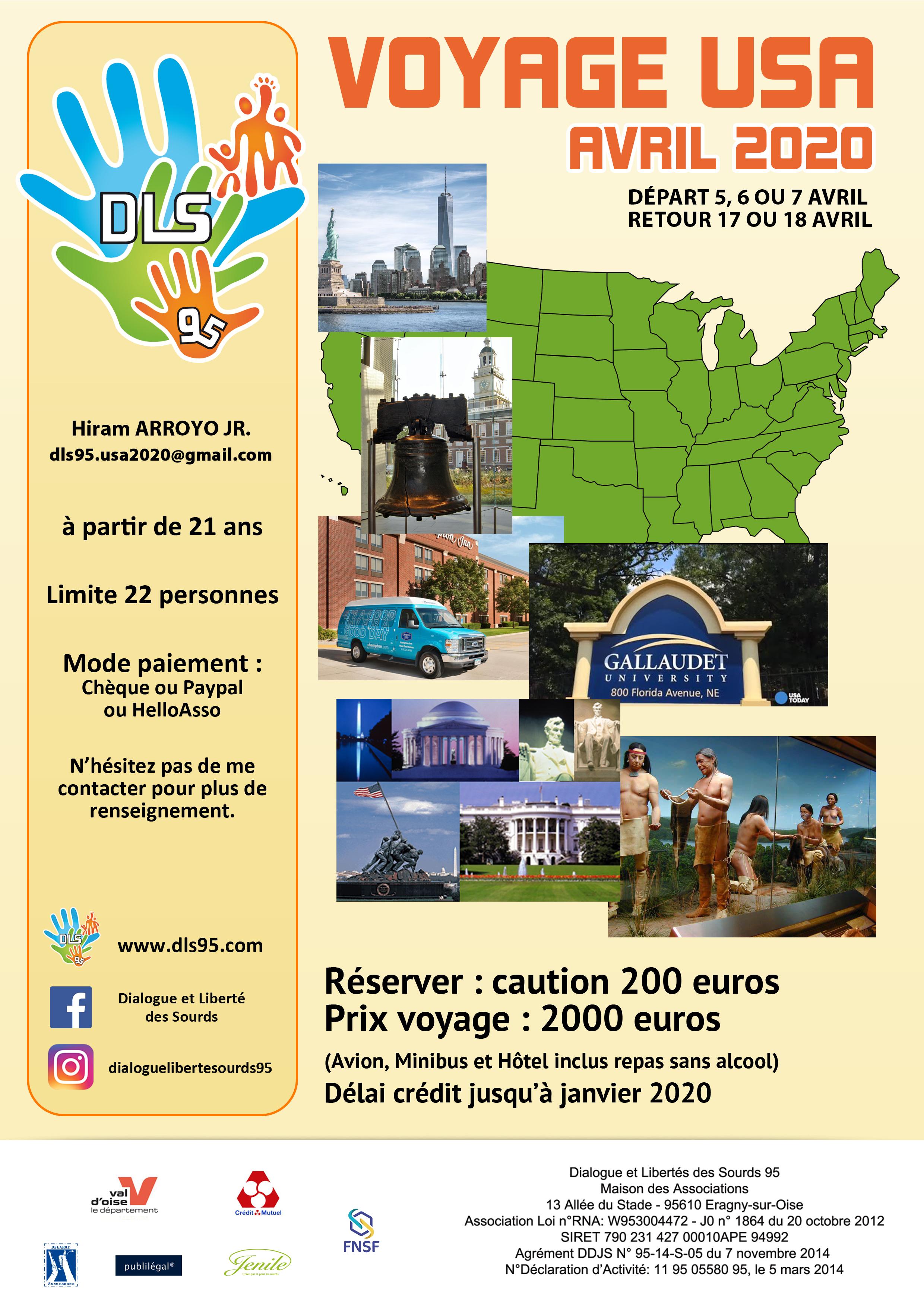 Affiche Voyage USA
