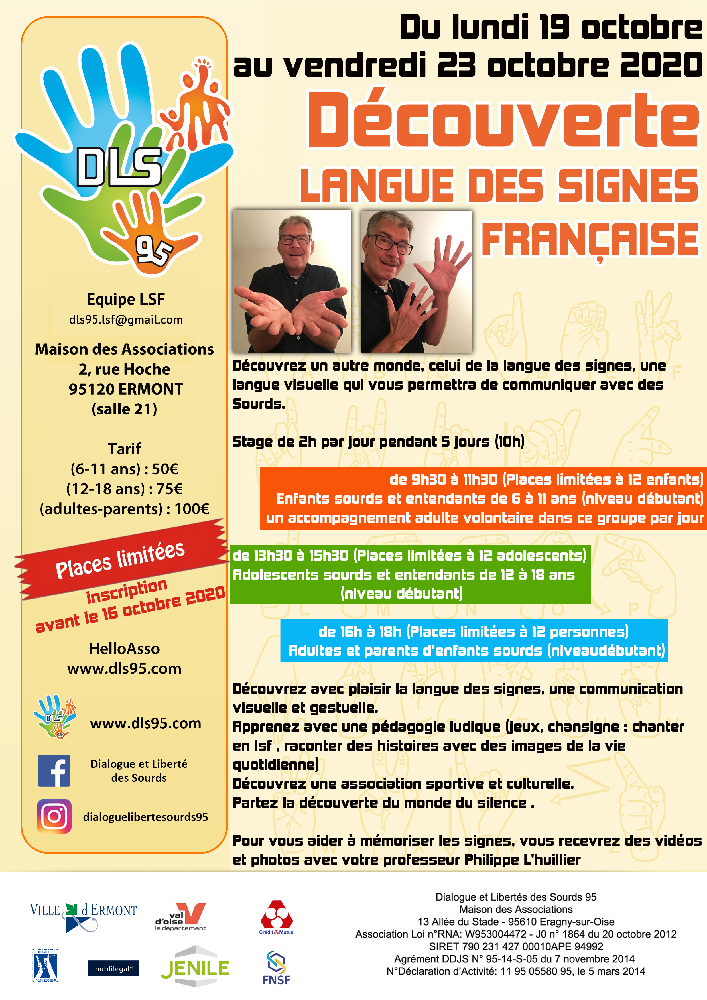 Affiche LSF decouverte