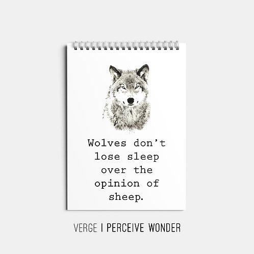 Wolves Don't Lose Sleep Sketchbook