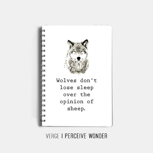 Wolves Don't Lose Sleep Notebook