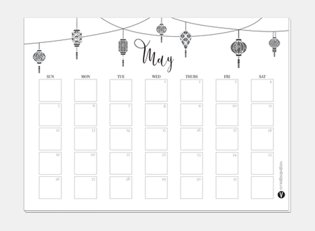 Monthly Printable Planner May 2019