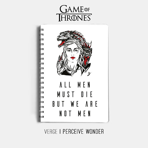 All Men Must Die Notebook