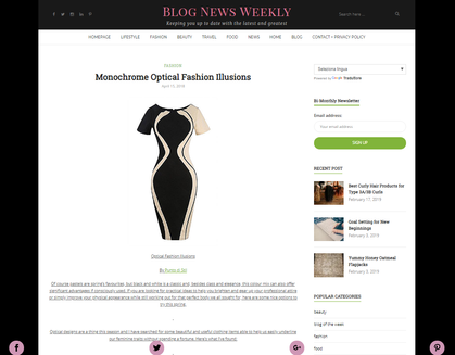 Article on Blog New Weekly