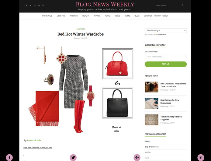 Article on Blog News Weekly
