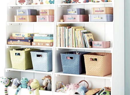 An organised playroom is beneficial for your kids