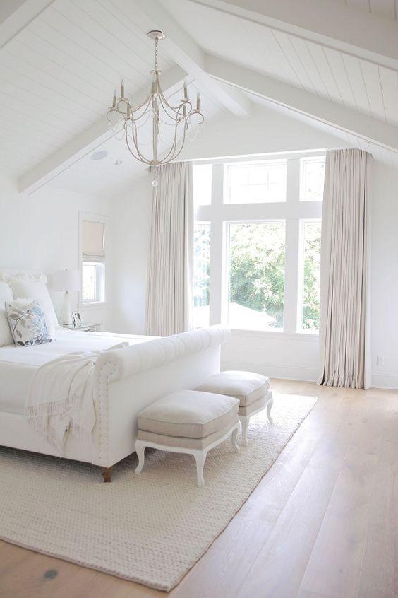 All white bedroom - Homefulness
