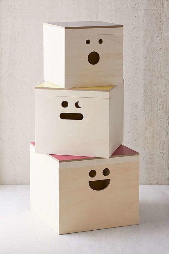 Stylish toy storage boxes