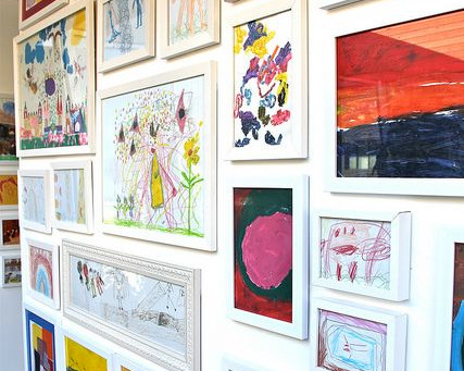 How to organise and display children's artwork