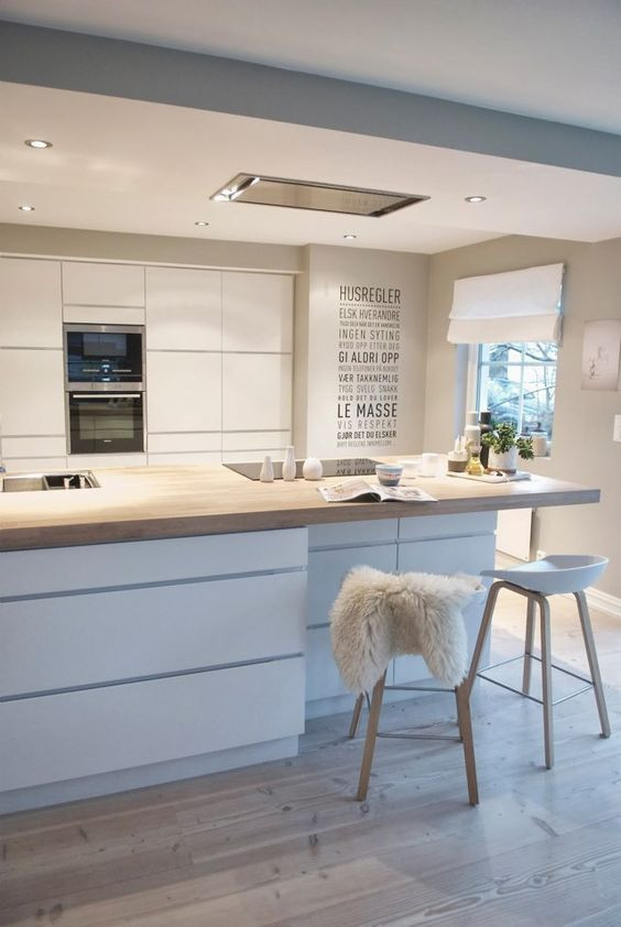 Organised kitchen with lights - Homefulness