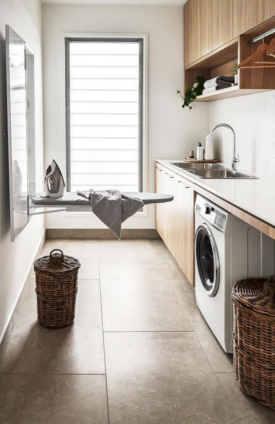Laundry room and ironing board - Homefulness