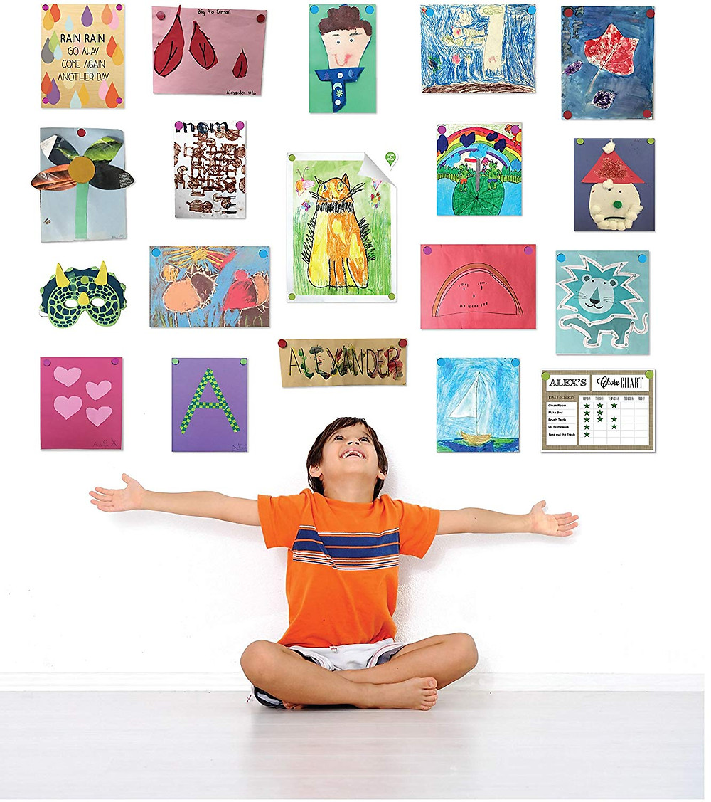 Organised children's artwork