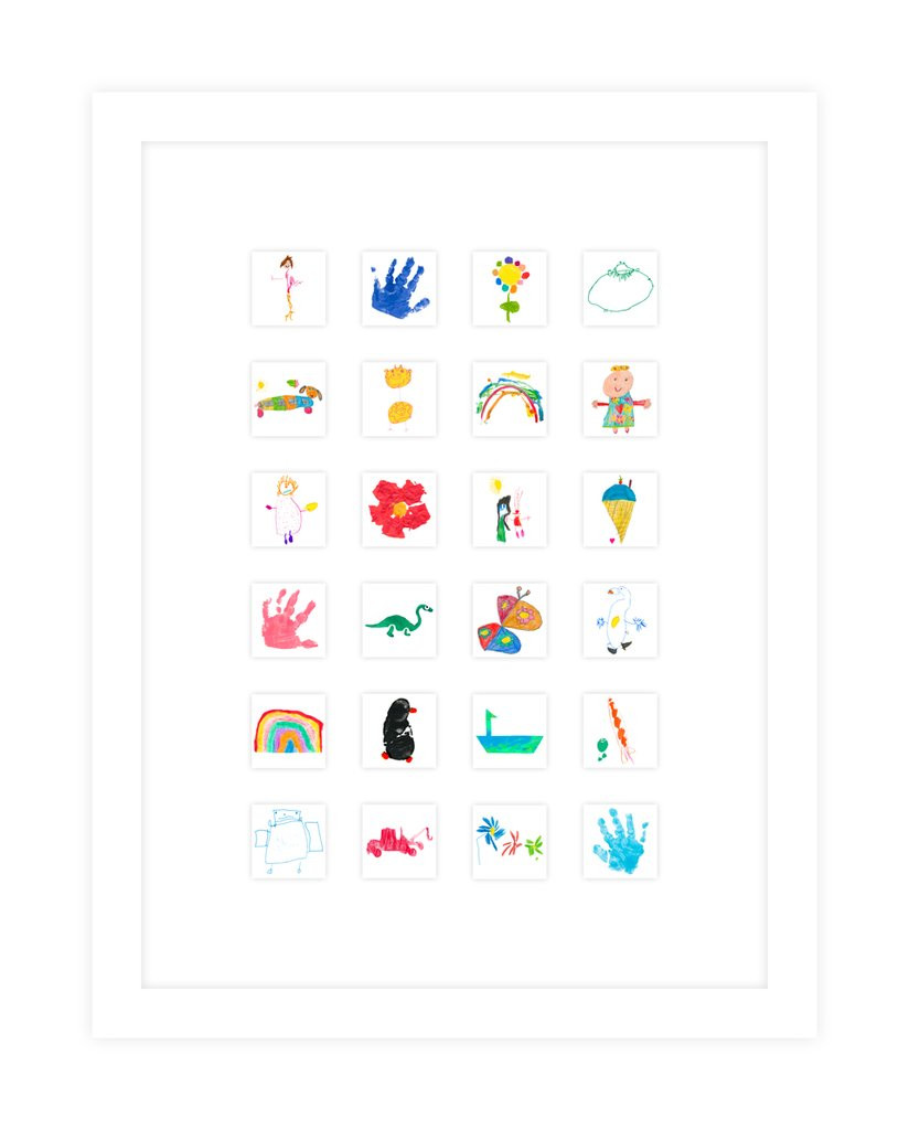 Organise and display kids art - Homefulness