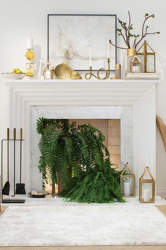 Fireplace decor for summer - Homefulness