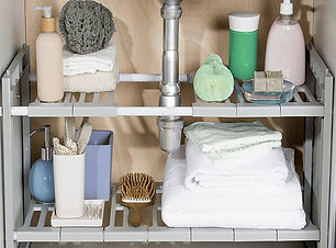Bathroom organisation by Homefulness