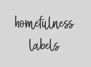 Custom organisation labels by Homefulness. Made to order.