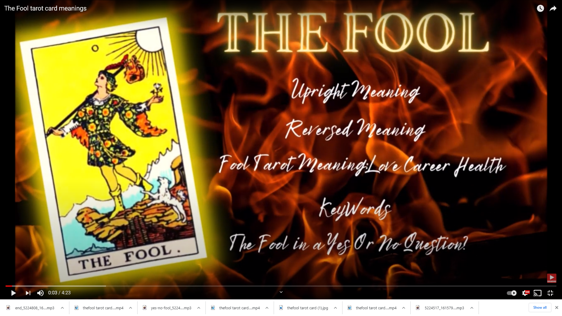 Online session: love tarot card reading