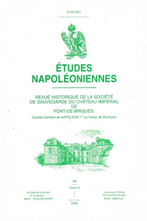Etudes Napoleoniennes N°40
